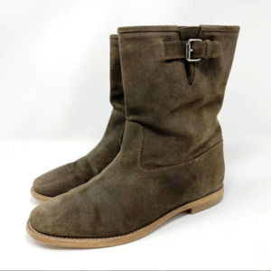 J. Crew Langston Leather Suede Engineer Boots 9.5